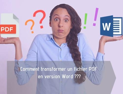 Comment transformer un fichier PDF en Word